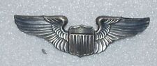 WWII STERLING, PIN BACK ARMY AIR FORCE PILOT WINGS , 3 INCH