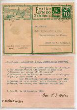 Suiza Entero Postal circulado a Jerez de la Frontera año 1928 (CP-894)