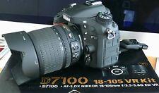 Nikon D D7100 24.1MP Digitalkamera - Schwarz (Kit mit 18-105mm)
