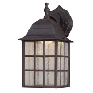 Exterior Wall Light Garden Wall Lamp Patio LED Dimmable Patina Drop Glass 9 W