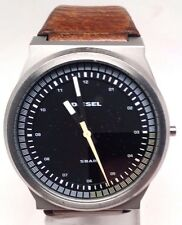 Diesel Men's Brown Leather Watch, 44mm Case DZ1561 Crown Is Broken Sold As Is