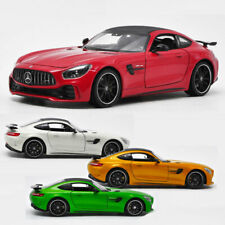 1:24 AMG GT R Sports Car Model Diecast Vehicle Collection Boys Gift Doors Open