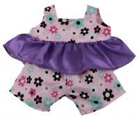 "Cute 2 Piece Outfit Teddy Bear Clothes fits 15"" Build a Bear Teddies"