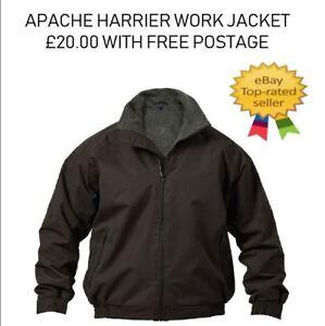 Apache Workwear Harrier Fleece Lined Water Repellent Bomber Jacket Black M & L
