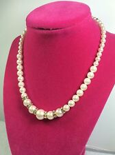 Dinner Necklace Multi Size Beads 16 Inch - A68*