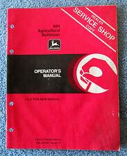 John Deere 864 Agricultural Bulldozer Operator's Manual OM-A43457 H1 golc