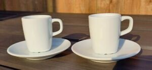 Set Of 2 -Expresso Cups And Saucers Set in White - IKEA 365+ Susan Pryke