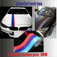 bmw - autocollant sticker adhésif - couleurs BMW  bande  -