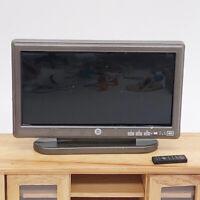 KE_ 1:12 Doll House Miniature LCD Television TV Remote Model Furniture Accesso