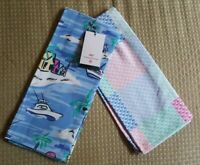 VINEYARD VINES for Target KITCHEN TOWEL 2pk ISLAND SCENE & PATCHWORK WHALE New