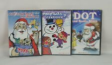 Christmas DVDs Christmas Classics 1 and 2 and Dot and Santa Cartoons Lot of 3