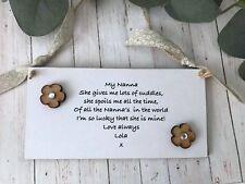Personalised Grandma Nan Nana Plaque Sign Gift keepsake Birthday Christmas P75
