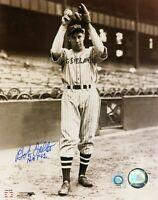 """Bob Feller Signed Inscribed """"HOF 62"""" 8x10 Photo Indians MLB COA Autograph"""