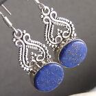 Granulation/Filigree SilverSari Earrings Solid 925 Sterling Silver LAPIS LAZULI