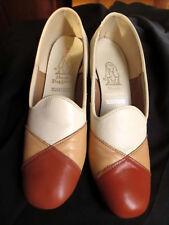 7.5M 7.5 M True Vtg HUSH PUPPIES WOLVERINES PATCHWORK MOD PUMPS Shoes
