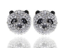 Ice Bling LJH Crystal Rhinestone Hello Zoo China Panda Bear Stud Earring ERA