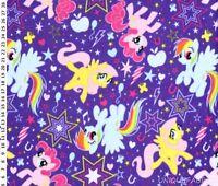 1.91Yds My Little Pony Cutie Power Toss Purple Fleece Fabric-FREE SHIP