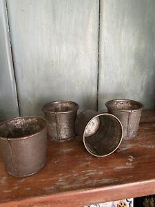 antique Berry Cups  Tin smith Made Original