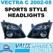 VECTRA C PRE FACELIFT PAIR OF BLACK SPORTS HEADLIGHTS SRI CDTI