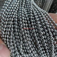 2mm/2.4mm/3.2mm/4mm/6mm in bulk 10m Stainless Steel Ball Necklace Chain Jewelry