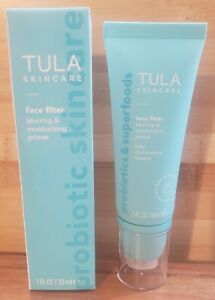 NIB Tula Skincare Face Filter Blurring & Moisturizing Primer 1 Oz/30 mL