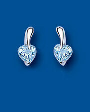 Topaz Butterfly Love & Hearts Sterling Silver Fine Earrings