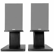 "8"" Black Bookshelf Speaker Stands For Acoustic Audio PSS-52 Bookshelf Speakers"
