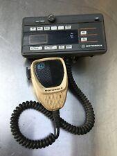 Set Of Motorola Control Head Maratrac Hcn1090a And Microphone Hmn1061a