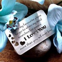 Gifts for him mens her valentines day boyfriend Husband wife engrave Heart w1 x
