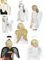Ladies Angel Accessories Womens Christmas Fancy Dress Costume Accessory Wings