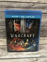 Warcraft (Blu-ray Disc Only *No DVD *No Digital 2016) Fantasy MINT Disc VG