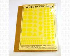 Virnex HO Decals Circle Oval Triangle Logo Shapes Lt Yellow 1982