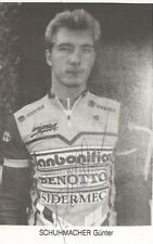 Cyclisme, ciclismo, wielrennen, radsport, cycling, GUNTHER SCHUMACHER signé