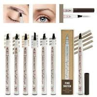 Microblading Tattoo Eyebrow Ink Fork 4 Tip Pen Eye Brow 4D Makeup Pencil 5 Color