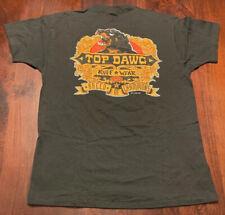 Vintage 1994 Top Dawg Ruff Wear T-Shirt Single Stitch Short Sleeve Black, Sz L