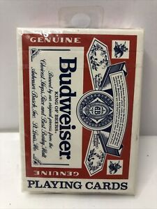 Vintage Budweiser Playing Cards Made In USA New Sealed The US Playing Card Co