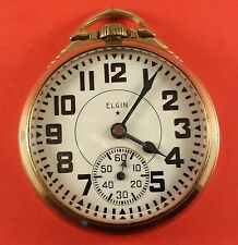 "Elgin Pocket Watch "" Bw Raymond "" 21 Jewels 16 Size 10K Gf S/N 41442872 Ca.1943"