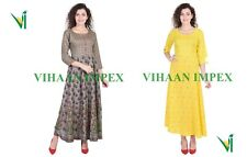 Anarkali casual rayon designer printed bollywood ethnic Indian Tunic Kurta kurti