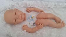 """Kit Muñeca Reborn Bebé """"Susie"""" 20 in (approx. 50.80 cm) cuerpo completo de las extremidades no + Pezón Maniquí Vinilo Azul."""