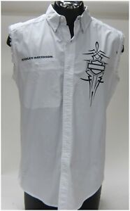 "Harley Davidson Men's M-Medium White  ""Vest-Shirt""   96483-15VM/000M"