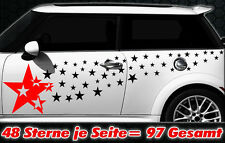 97 Sterne Star Auto Aufkleber Set Sticker Tuning Shirt Stylin WandtattooTribel x