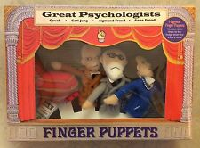 The Great Psychologists Finger Puppets Set Carl Jung Sigmund Anna Freud w Couch