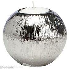 Kerzenständer 4er Set silber Teelichthalter Advent Weihnachten Adventskranz 035