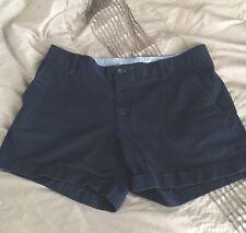 "Banana Republic City Chino 4.5"" Shorts  with Cuff, Preppy Navy Size 8"