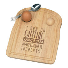 I Run On Caffeine Sarcasm Inappropriate Thoughts Déjeuner Fofolle Coquetier Bord