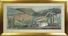 1950-1999 Gemälde (1900-1949) mit Expressionismus auf Landschaft & Stadt