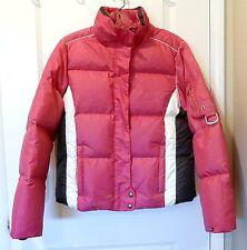 Tommy Hilfiger Women M Down Winter Coat Snowboard Jacket Puffer Parka Pink
