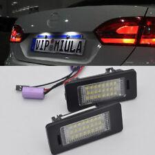2x Error Free white LED License Plate Lights For Volkswagen JETTA Mk6 2011-2017