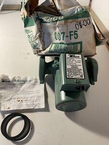TACO 007-F5 Hot Water Circulator Pump,1/25 HP NEW.  Box Is Bad. Pump-new