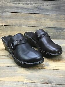 Women's Born Mule Clog Size 10 Brown Strap Leather